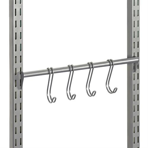 40 Fixed Hook Rack, Silver